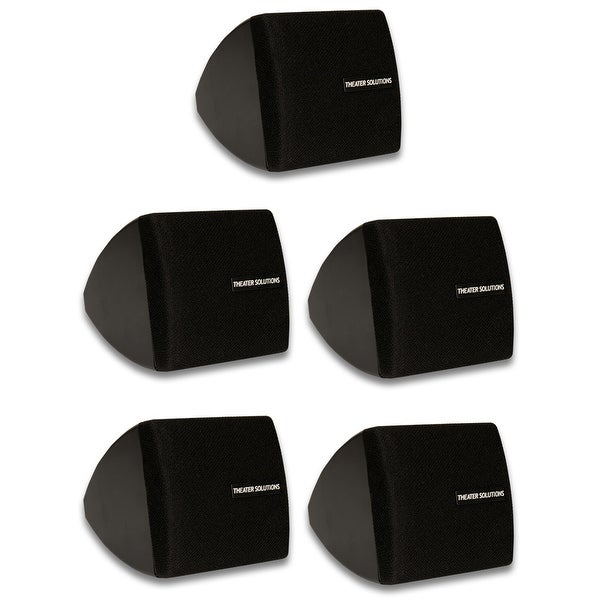 Theater Solutions TS30B Mountable Indoor Speakers Black 5 Piece Pack TS30B-5S