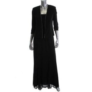 Alex Evenings Womens Dress With Jacket 2PC Rhinestone Trim - 6