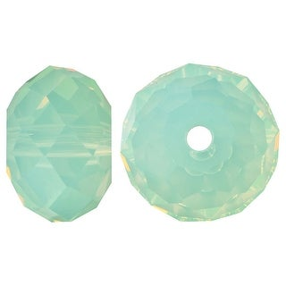 Swarovski Crystal, 5040 Rondelle Beads 8mm, 8 Pieces, Chrysolite Opal