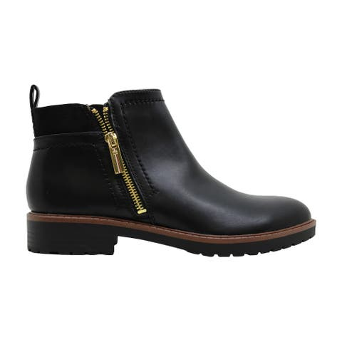 Tommy Hilfiger Womens fawn 2 Leather Almond Toe Ankle Fashion Boots