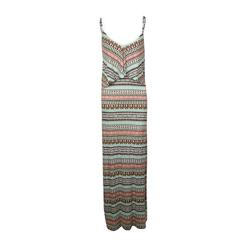 Kenneth Cole REACTION Women's Tribal Popover Maxi Swim Cover - Seafoam