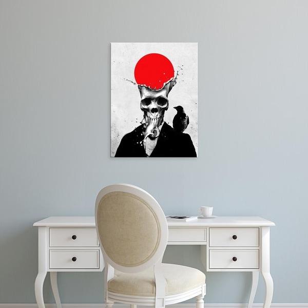 Easy Art Prints Ali Gulec's 'Splash Skull' Premium Canvas Art