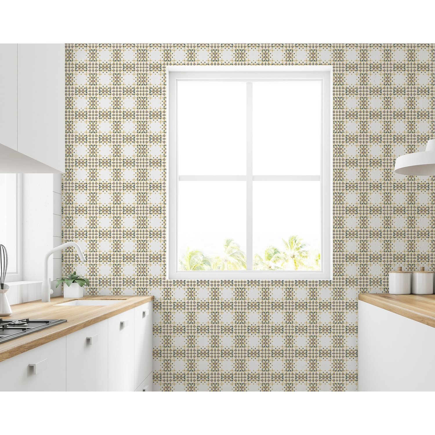 Shop Sbc Decor Modern Mosaic Removable Peel Stick Vinyl Wallpaper Panel Overstock 32029318