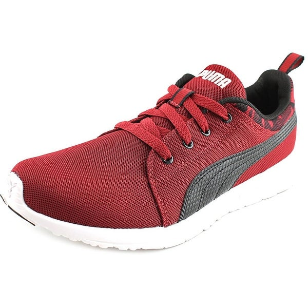 Puma Carson Runner Camo Men Round Toe Synthetic Burgundy Running Shoe