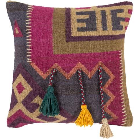 Dharma Global Boho Tassel Throw Pillow