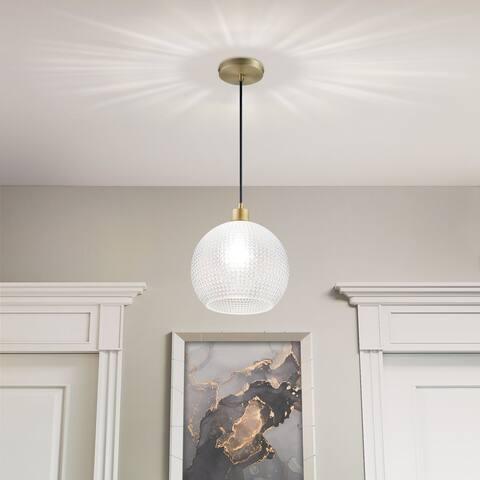 "Archiology 1-light 10"" Mini Brass Glass Globe Light Pendant Lights"