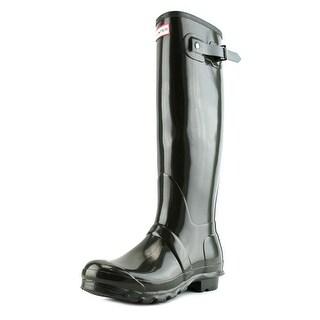 Hunter Original Tall Gloss Women  Round Toe Synthetic Green Rain Boot