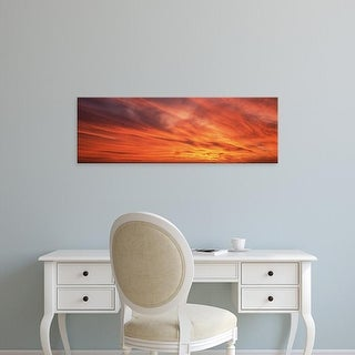 Easy Art Prints Panoramic Images's 'Sunset Marion Co IL USA' Premium Canvas Art