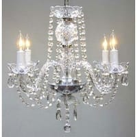 Swarovski Crystal Trimmed 6 Light Chandelier - Clear