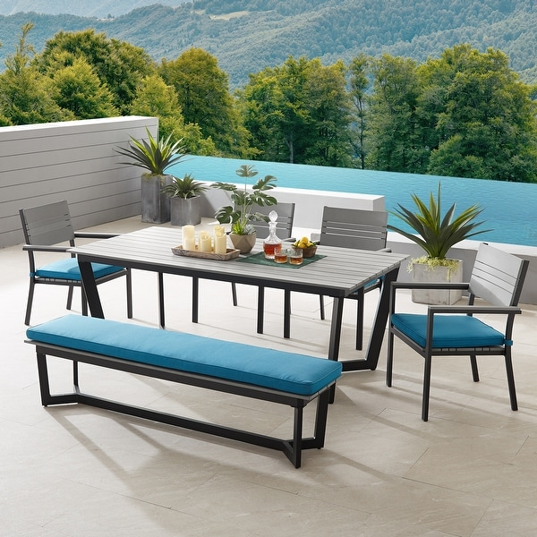 Corvus Orville 6-piece Outdoor Dining Set with Wood Table Top. Opens flyout.