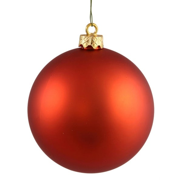 "Matte Burnt Orange UV Resistant Commercial Shatterproof Christmas Ball Ornament 6"" (150mm)"