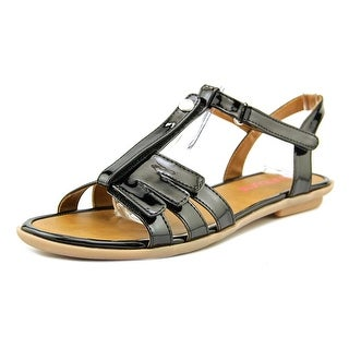 Bumbums & Baubles Abby Open-Toe Patent Leather Slingback Sandal