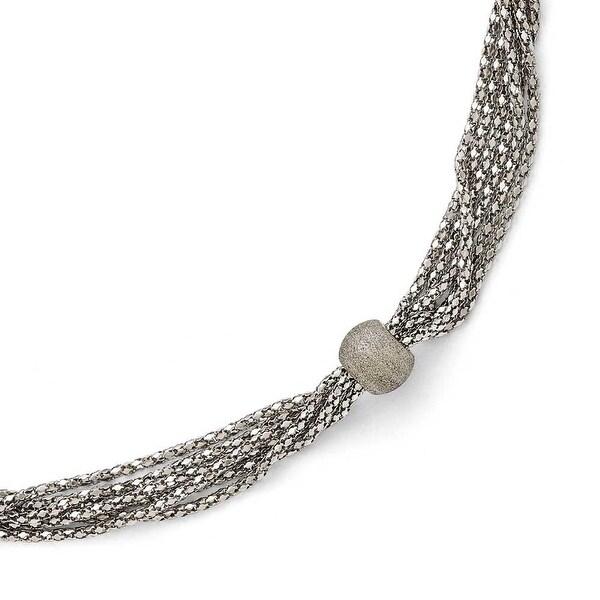 Chisel Stainless Steel Polished and Laser Cut 6 Strand Bracelet