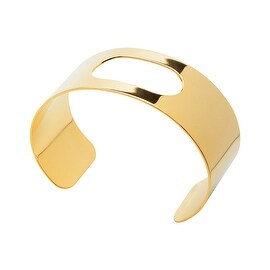 Flat Cuff Bracelet Base, with Oblong Cutout 28.6mm (1 1/8) Wide, 1 Piece, 22K Gold Plated