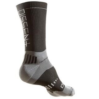 Dissent Supercrew Nano 8in Cycling Compression Socks - Black