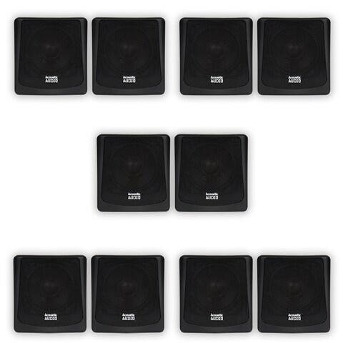 Acoustic Audio AA051B Mountable Indoor / Outdoor Speakers 5 Pair Pack AA051B-5PR