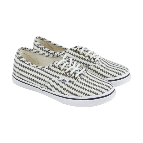 Vans Authentic Lo Pro Mens White Textile Lace Up Sneakers Shoes ... bb5954238ae1