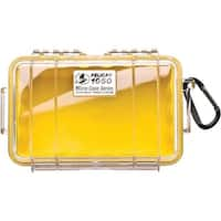 Pelican 1050-027-100 1050 Micro Case(Tm) (Yellow/Clear)