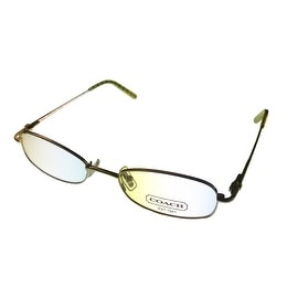 Coach Womens Opthalmic Eyeglass Frame Rectangle Metal, Jamie 109 Golden - Medium