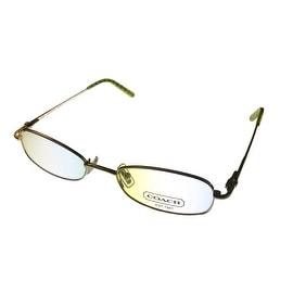 Coach Womens Opthalmic Eyeglass Frame Rectangle Metal, Jamie 109 Golden