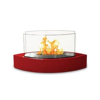 Lexington(High Gloss Red) Table Top Bio Ethanol Ventless Fireplace