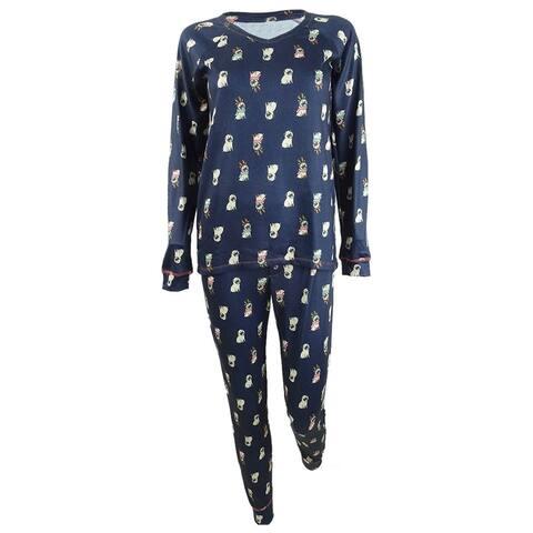 Jenni Women's Pajamas & Sleep Mask Knit 3pc Set