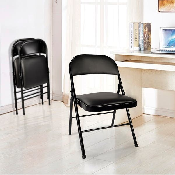 Shop Vecelo Home Office Chairs Commercial Folding Chairs Steel Pack Of 4 2 Options Overstock 26053804