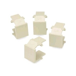 Leviton 41084-BWB Snap-In Blank Cover (Almond) (4 pack)