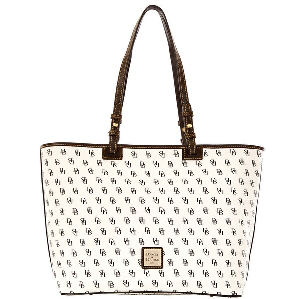 Dooney & Bourke Gretta Leisure Shopper (Introduced by Dooney & Bourke at $228 in Oct 2014) - White Black