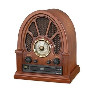 Innovative Technology Vintage Wood CD Bluetooth Table Radio