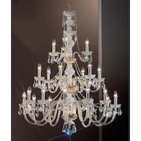 "Classic Lighting 8201-GP 43"" Crystal All Glass Chandelier from the Monticello Collection"