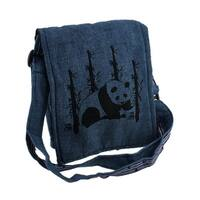 Panda Bear Small Lightly Padded Handcrafted Adjustable Cross Body Bag