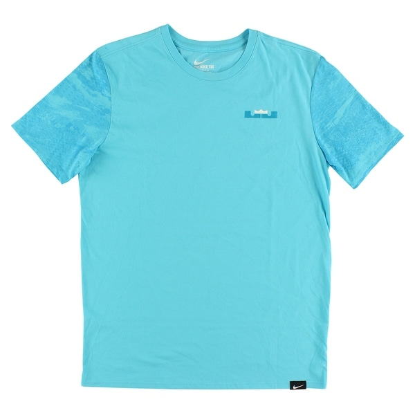 967b795dcf9c Shop Nike Mens LeBron James Color Blocked T Shirt Tide Pool Blue - Tide  Pool Blue/White - Free Shipping On Orders Over $45 - Overstock - 22613266