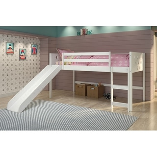 Link to Twin Circles Low Loft with Slide in White Similar Items in Kids' & Toddler Furniture