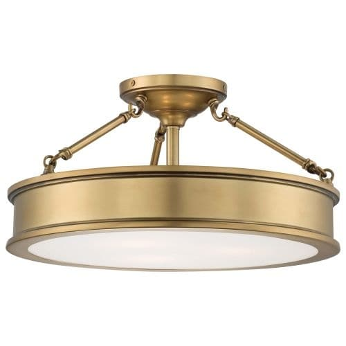 Minka Lavery 4177-249 3 Light Semi-Flush Ceiling Fixture from the Harbour Point Collection - Thumbnail 0
