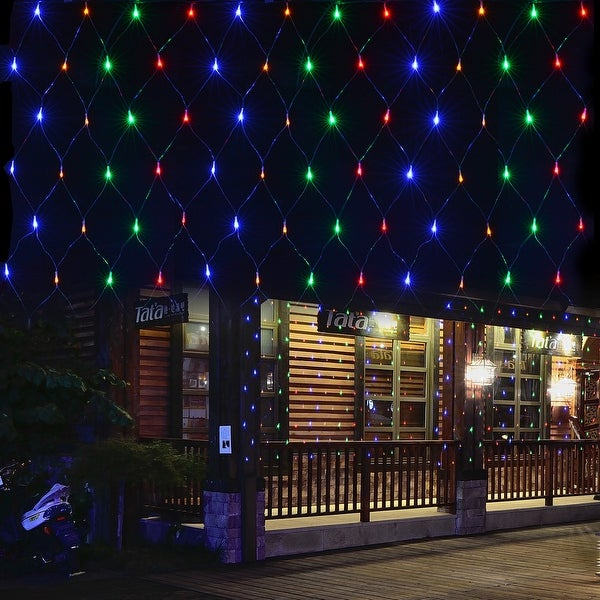 120 led net mesh fairy string light christmas connectable net lights lighting for xmas wedding rgb