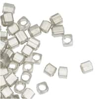 Silver Plated Small Rectangle Beads 2mm x 3mm (100)