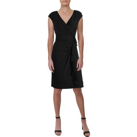 American Living Womens Harper Sheath Dress Ruffled Cap-Sleeve