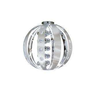 "Bromi Design B8401 Mars Single Light 21"" Wide Integrated LED Flush Mount Globe Ceiling Fixture"