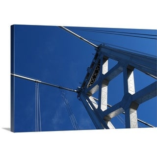 Premium Thick-Wrap Canvas entitled Bay Bridge in San Francisco on a beautiful sunny day.