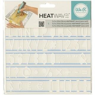 """Heatwave Stencil 7""""X7""""-Sans Serif"""