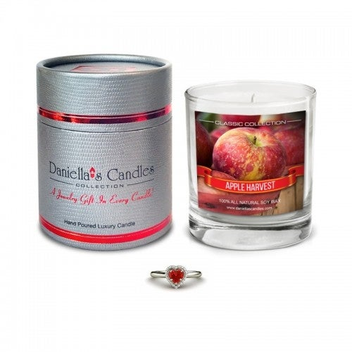 Daniella's Candles Apple Harvest Jewelry Candle, Ring Size 5
