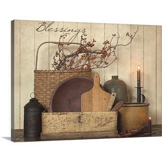 """""""Blessings"""" Canvas Wall Art"""
