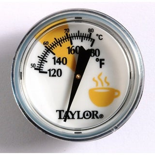 Taylor 5997E Analog Frothing Thermometer, White, Stainless Steel
