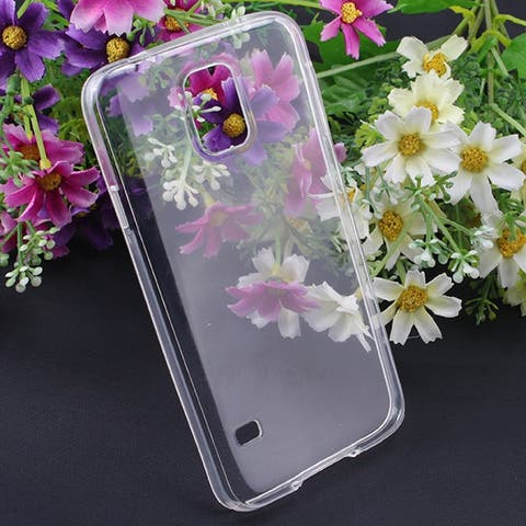 Image Phone Case Cover Ultra Thin Clear Transparent Crystal TPU for Samsung Galaxy S5 i9600