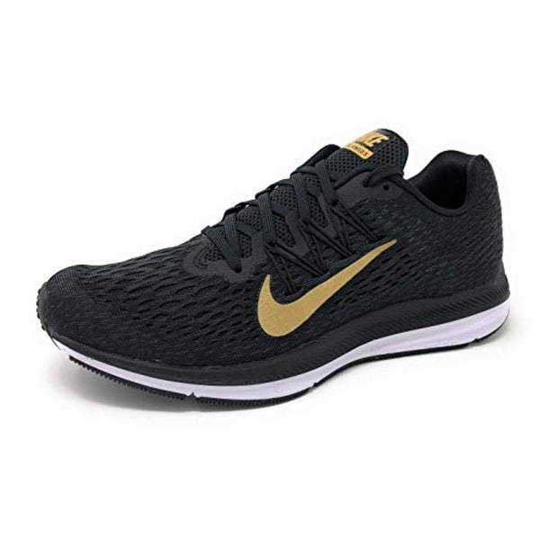 ba5c3701e1448 Shop Nike Women's Air Zoom Winflo 5 Running Shoe, Black/Metallic Gold-Anthracite,  7.5 - Free Shipping Today - Overstock - 27125251