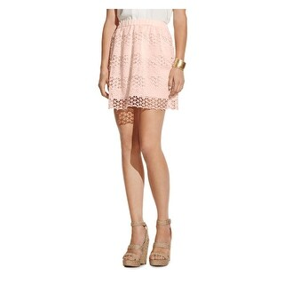 Vince Camuto Womens A-Line Skirt Lace Overlay Pull On