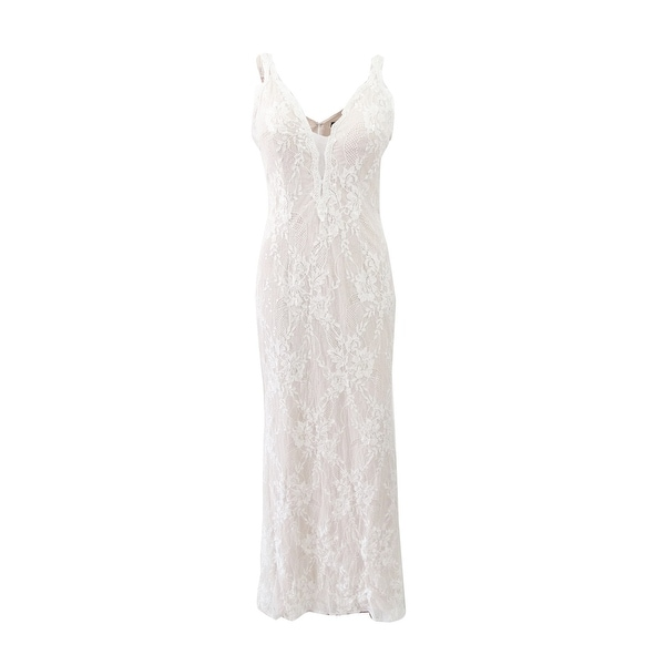 ea6062cca9 Shop X By Xscape Women s Embellished Lace Plunge Gown (4