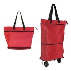 Red - Knit Happy Convertible Trolley Bag
