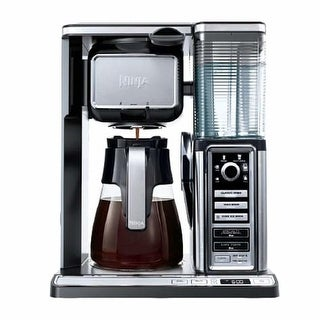 Ninja Auto-IQ Coffee Maker Brewer Bar System with Glass Carafe and Frother (Refurbished)
